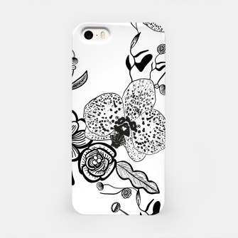 Thumbnail image of White Out Blooms hand drawn orchid and abstract flowers pattern  iPhone Case, Live Heroes