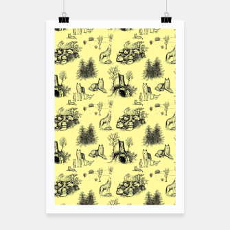Miniature de image de Eurasian Wolf Toile Pattern (Yellow and Black) Poster, Live Heroes
