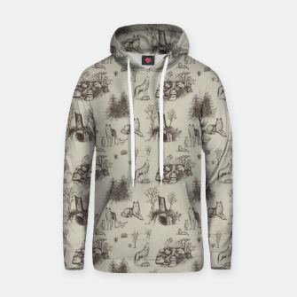 Eurasian Wolf Toile Pattern (Beige and Brown) Hoodie thumbnail image