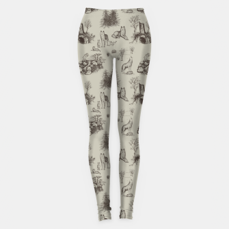 Eurasian Wolf Toile Pattern (Beige and Brown) Leggings thumbnail image
