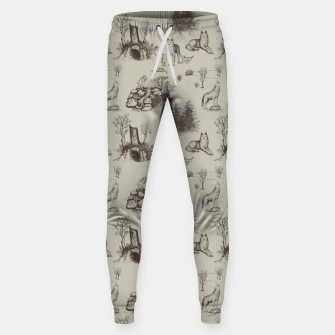 Eurasian Wolf Toile Pattern (Beige and Brown) Sweatpants thumbnail image