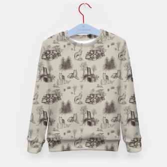 Eurasian Wolf Toile Pattern (Beige and Brown) Kid's sweater thumbnail image