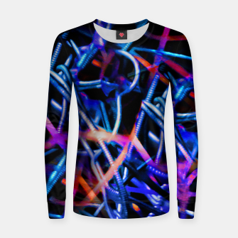 Thumbnail image of Modern Abstract Print Women sweater, Live Heroes