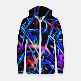 Thumbnail image of Modern Abstract Print Zip up hoodie, Live Heroes