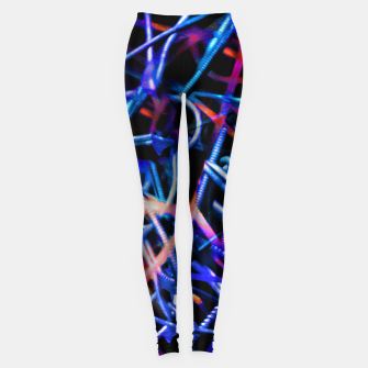 Thumbnail image of Modern Abstract Print Leggings, Live Heroes