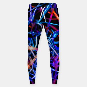Thumbnail image of Modern Abstract Print Sweatpants, Live Heroes