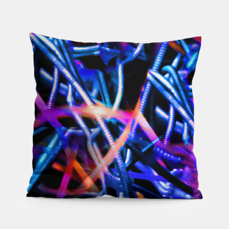 Thumbnail image of Modern Abstract Print Pillow, Live Heroes