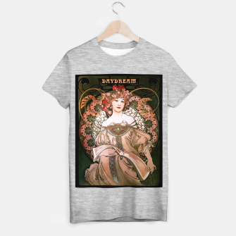Miniaturka Daydream by Alphonse Mucha Over Black T-shirt regular, Live Heroes