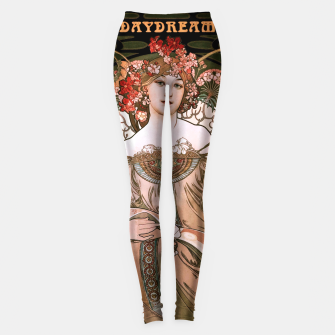 Miniaturka Daydream by Alphonse Mucha Over Black Leggings, Live Heroes
