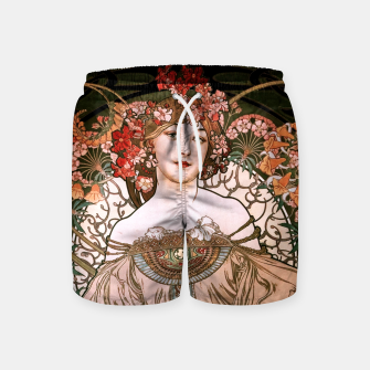 Miniaturka Daydream by Alphonse Mucha Over Black Swim Shorts, Live Heroes