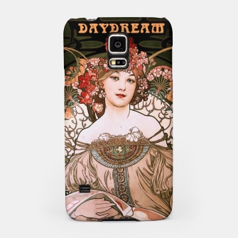 Thumbnail image of Daydream by Alphonse Mucha Over Black Samsung Case, Live Heroes