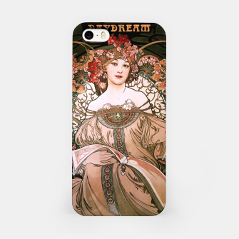 Miniaturka Daydream by Alphonse Mucha Over Black iPhone Case, Live Heroes