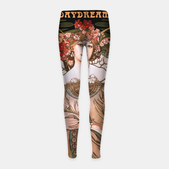 Miniaturka Daydream by Alphonse Mucha Over Black Girl's leggings, Live Heroes