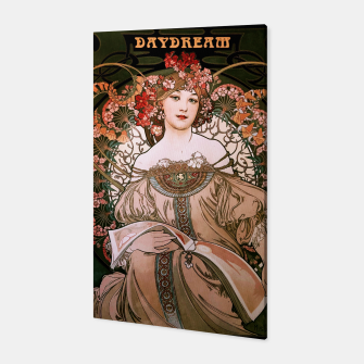 Miniaturka Daydream by Alphonse Mucha Over Black Canvas, Live Heroes