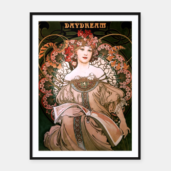 Miniaturka Daydream by Alphonse Mucha Over Black Framed poster, Live Heroes