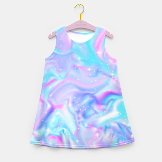 Miniatur Holographic Girl's summer dress, Live Heroes