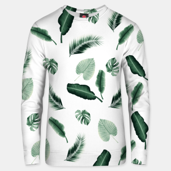 Thumbnail image of Tropical Jungle Leaf Pattern #2 #tropical #decor #art  Unisex sweatshirt, Live Heroes