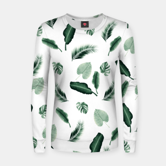 Thumbnail image of Tropical Jungle Leaf Pattern #2 #tropical #decor #art  Frauen sweatshirt, Live Heroes