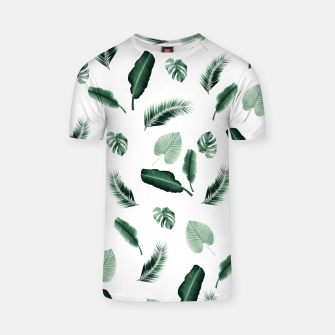 Thumbnail image of Tropical Jungle Leaf Pattern #2 #tropical #decor #art  T-Shirt, Live Heroes