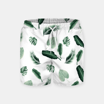 Thumbnail image of Tropical Jungle Leaf Pattern #2 #tropical #decor #art  Badeshorts, Live Heroes