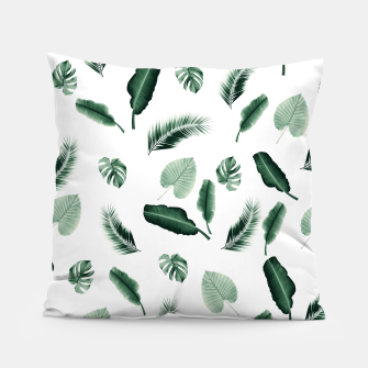 Thumbnail image of Tropical Jungle Leaf Pattern #2 #tropical #decor #art  Kissen, Live Heroes