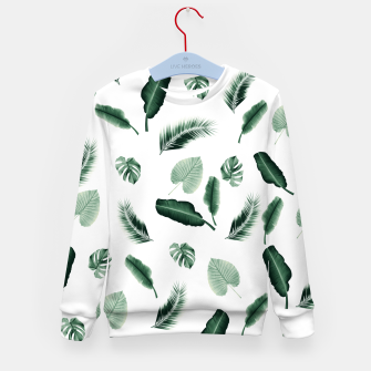 Thumbnail image of Tropical Jungle Leaf Pattern #2 #tropical #decor #art  Kindersweatshirt, Live Heroes