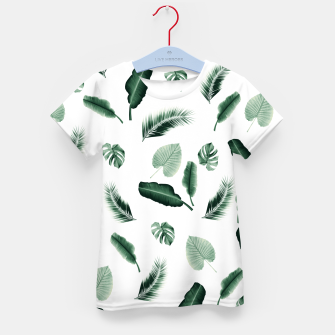 Thumbnail image of Tropical Jungle Leaf Pattern #2 #tropical #decor #art  T-Shirt für kinder, Live Heroes