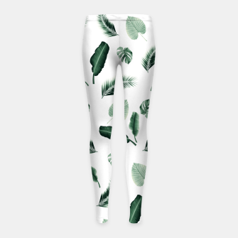 Thumbnail image of Tropical Jungle Leaf Pattern #2 #tropical #decor #art  Kinder-Leggins, Live Heroes