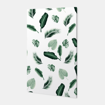 Thumbnail image of Tropical Jungle Leaf Pattern #2 #tropical #decor #art  Canvas, Live Heroes