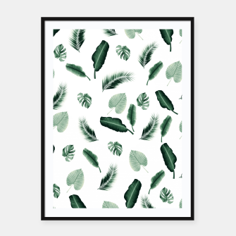 Thumbnail image of Tropical Jungle Leaf Pattern #2 #tropical #decor #art  Plakat mit rahmen, Live Heroes