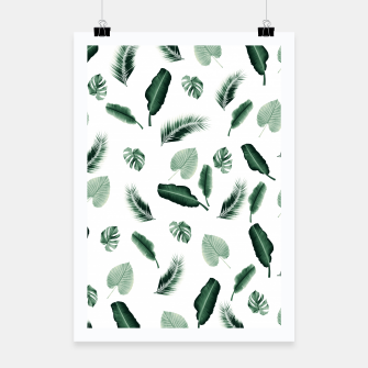 Thumbnail image of Tropical Jungle Leaf Pattern #2 #tropical #decor #art  Plakat, Live Heroes