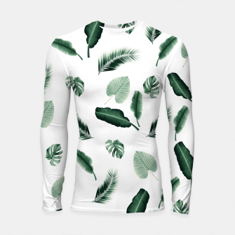 Thumbnail image of Tropical Jungle Leaf Pattern #2 #tropical #decor #art  Longsleeve rashguard, Live Heroes