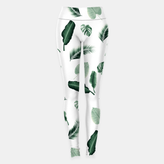 Thumbnail image of Tropical Jungle Leaf Pattern #2 #tropical #decor #art  Leggings, Live Heroes