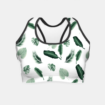 Thumbnail image of Tropical Jungle Leaf Pattern #2 #tropical #decor #art  Crop Top, Live Heroes