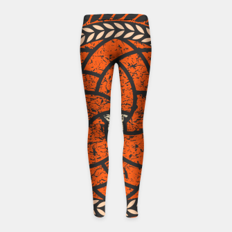 Thumbnail image of Elements - Red Girl's leggings, Live Heroes