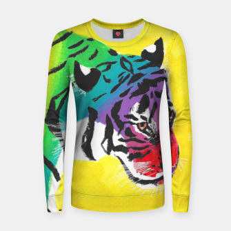 Thumbnail image of Be proud, Tiger, jungle cat Women sweater, Live Heroes