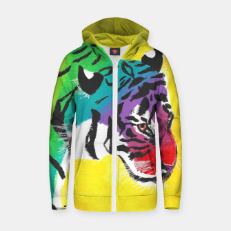 Miniatur Be proud, Tiger, jungle cat Zip up hoodie, Live Heroes