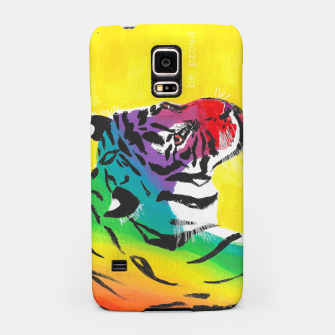 Miniatur Be proud, Tiger, jungle cat Samsung Case, Live Heroes