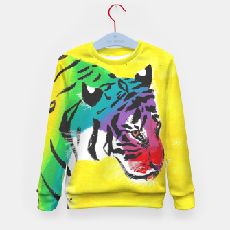 Miniatur Be proud, Tiger, jungle cat Kid's sweater, Live Heroes