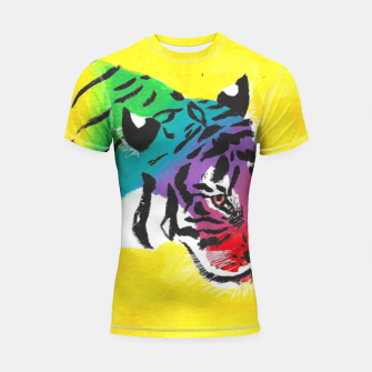 Miniatur Be proud, Tiger, jungle cat Shortsleeve rashguard, Live Heroes