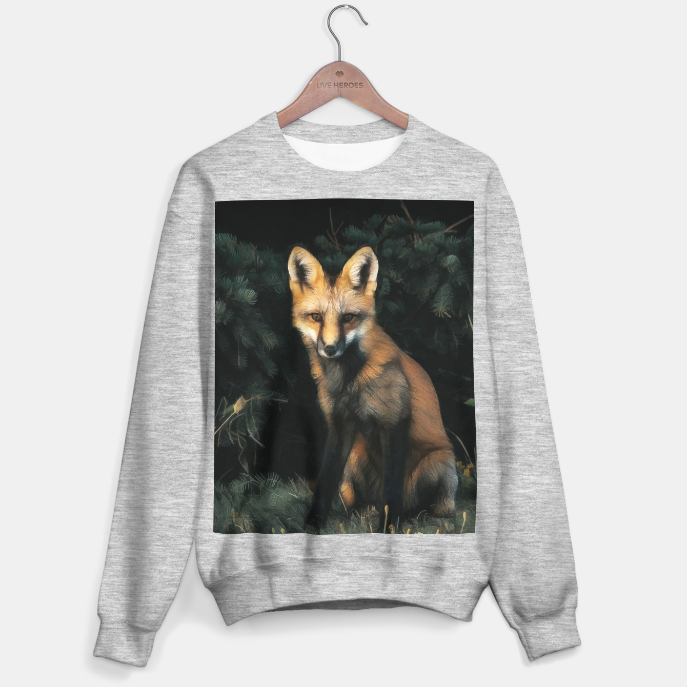 Foto Fox in the forest Sweater regular - Live Heroes