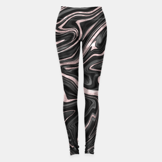 Thumbnail image of Black Gray White Rose Gold Marble #1 #decor #art  Leggings, Live Heroes