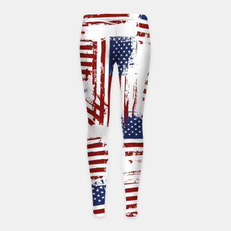 Thumbnail image of 4th of July Girl's leggings, Live Heroes