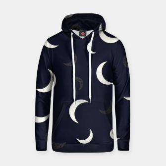 Thumbnail image of Shining golden and white colored moon night life pattern Hoodie, Live Heroes