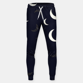 Thumbnail image of Shining golden and white colored moon night life pattern Sweatpants, Live Heroes