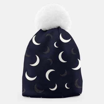 Thumbnail image of Shining golden and white colored moon night life pattern Beanie, Live Heroes