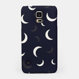 Thumbnail image of Shining golden and white colored moon night life pattern Samsung Case, Live Heroes