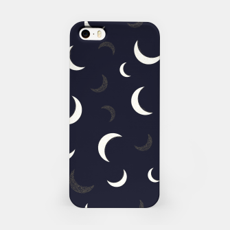 Thumbnail image of Shining golden and white colored moon night life pattern iPhone Case, Live Heroes