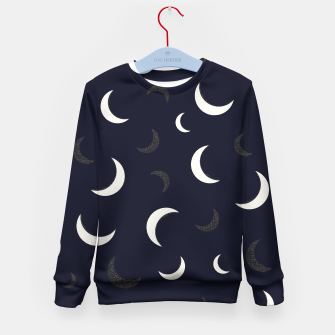 Thumbnail image of Shining golden and white colored moon night life pattern Kid's sweater, Live Heroes