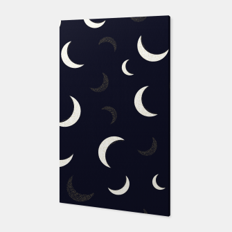 Thumbnail image of Shining golden and white colored moon night life pattern Canvas, Live Heroes